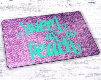 Sweet As A Peach Mousepad - 7.75 x 9.25