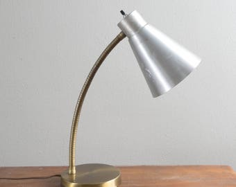 Vintage Industrial Gooseneck Chrome Desk Lamp