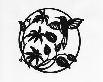 Hummingbird Art, Metal Garden Sign, Farmhouse Decor, Bird Sign, Metal Bird Wall Art, Metal Fence Sign, Garden Sign, Garden Art, Bird Art