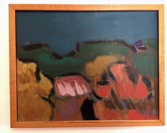 Great Colorful California Abstract Landscape - Marin County Artist - Oil on Linen