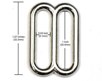 1 Inch Metal Triglide/ Slide, (Pack of 10, 25, 50, 100, 250)