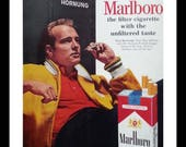 Marlboro - Green Bay Packers Paul Hornung Cigarette Ad.  Color ad. Super Bowl MVP.  13 x 10 inches. Ready for Framing.