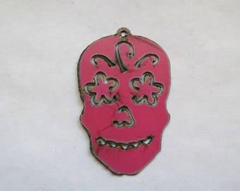 Sugar Skull Pendant #EWKS4P Necklace Sugar Skull Day of the Dead Necklace Ornament
