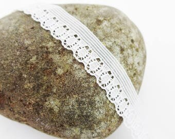 White lace trim,sewing trim,fancy trim,sewing tape,narrow lace,narrow trim,fancy sewing tape,white ribbon,sewing lace,1cm or 3/8 inch wide