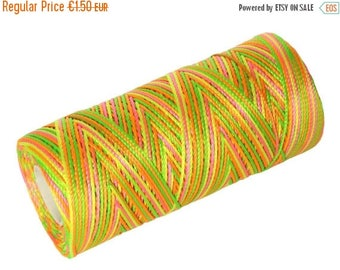 ON SALE 15 Meters Nylon Cord - Multicolor - Not Waxed- Crochet Thread - Summer