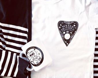 Weird Mother Ouija Planchette shirt, women's cut fit S-XL.