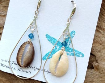 Hawaiian Cowrie Shell Earrings