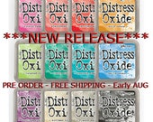 Tim Holtz Distress Oxide Ink Pads - NEW RELEASE - Full Set - 12 New Colors - Ranger Ink - Full Size - Pre Order - Free Shipping - Early Aug
