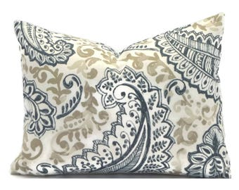 Outdoor Lumbar Pillow Cover ANY SIZE Decorative Pillow Cover Gray Pillow Premier Prints Outdoor Shannon Cavern