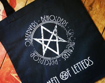 Men of Letters, BMOL , British Men of Letters, Supernatural, Spn, Supernatural Bag, Winchester Brothers, Tote Bags, Fiver Friday