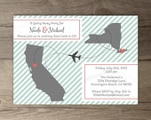 Moving / Going Away Party Invitations / Invites / Announcements - • printable / custom / map