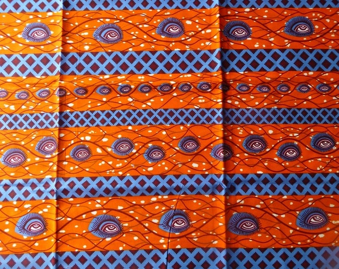 African Fabrics Block Print Fabrics For Dress &Craft Making Sewing Fabric/Kitenge/Pagnes/Kikwembe /Tissues Africa/Chitenge Sold By Yard