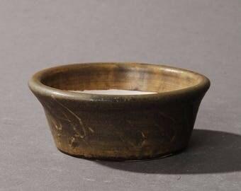 Mini Bonsai pot.Moss green
