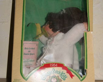 Vintage 1984 Cabbage Patch Doll By COLECO In The Original Box Doll Named Danya Hinda