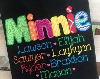 Grandma shirts-perfect for Nana, Nanny, Grandma, Mimi, Gigi, Meemaw - mothers day shirt, grandparents, grandkids, personalized shirt,