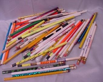 Advertising Pencils -MORE Then 60 Advertisers - Most Unused