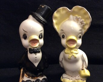 Vintage Dr. And Mrs. Quack Salt and Pepper Shakers