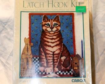 Wonder Art Latch Hook Kit - Tabby Cat - Never Opened - Sealed Mint - Caron - 24 x 34 - Art #4387