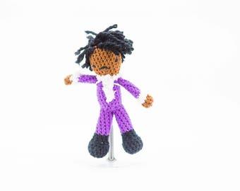 Prince Stuffed Doll - Crochet Prince Toy - Amigurumi Prince - Homage to the Purple One