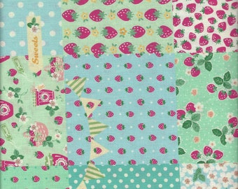 Floral PAtchwork (Col B) from the 30's Collection by Atsuko Matsuyama for Yuwa of Japan