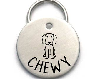 Stainless Steel Engraved Dog Tag - Unique Custom Pet ID - Strong Metal Tag