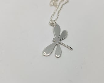 Dragonfly Necklace Sterling Silver Dragonfly Dragonfly Jewellery Dragonfly Gift Nature Jewellery