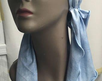 Tie Dye Jersey Knit Hair Wrap Head Scarf