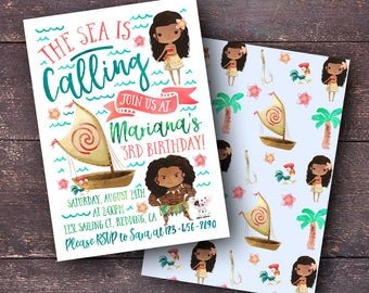 Moana Birthday Invitation, Moana Invitation, Moana Birthday Party, Moana Party Invitation