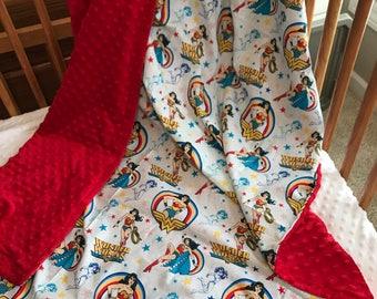 Wonder Woman minky blanket
