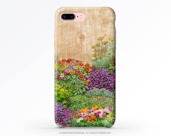 iPhone 8 Case iPhone X Case iPhone 7 Case Wood Floral iPhone 7 Plus Case iPhone 6s Case iPhone SE Case Galaxy S7 Case Galaxy S8 Case V44