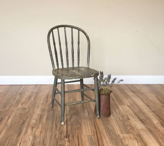 Captivating Rustic Wood Chair, Farmhouse Chair   Grey Dining Chair   Spindle Back Chair    Cottage Furniture   Antique Wood Chair   Windsor Chair