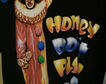 EUC Vintage 1990's In Living Color Homey Clown Don't Play That Dat Tee Shirt XL Black Comedy Comic-Con