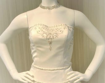 "Vintage Paloma Blanca ""White Dove"" Ballgown Wedding Dress"