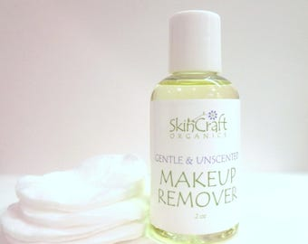 Natural Makeup Remover - Gentle Eye Make-Up Remover for All Skin Types - Oily - Sensitive - Acne Prone - Dry - Combination  - 2 oz