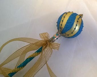 Blue & Gold Wand or Scepter