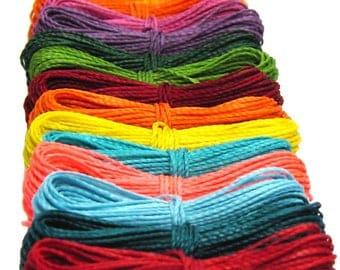 600 Meters - Macrame Cord Linhasita - Jewelry Thread - Waxed Cord - Macrame String - Waxed Polyester Thread - Hilo encerado