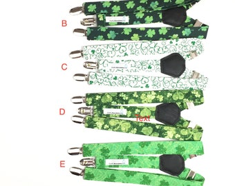 Suspenders - Green Shamrock Adjustable Suspenders