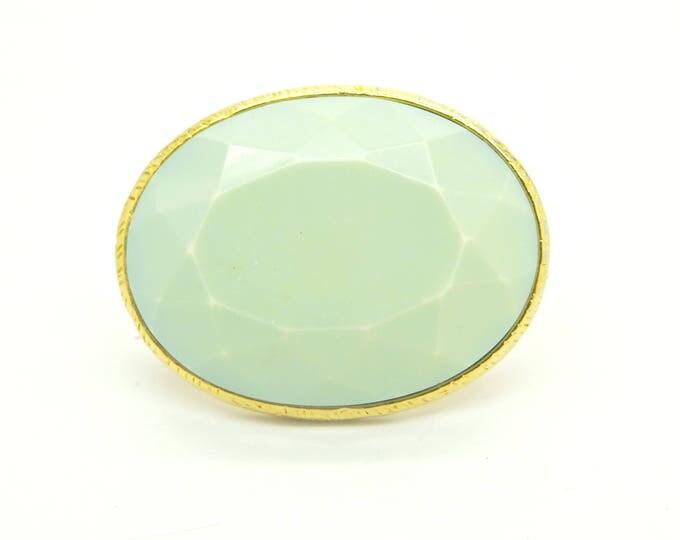 Huge mint green ring, boho style!