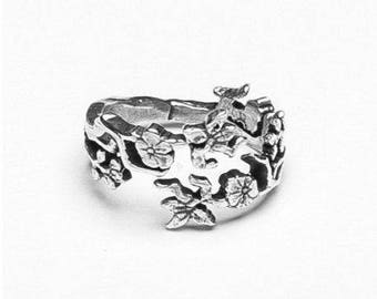"Spoon Ring: ""Cherry Blossom"" by Silver Spoon Jewelry"