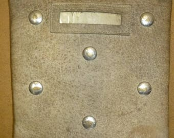 Antique Studded Leather Bank Deposit Money Bag - Fun and Functional Form