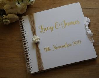 Guest book, wedding album, wedding scrapbook, memory book, wedding planner, large