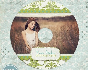 ON SALE NOW Cd/Dvd label photoshop template - Photography Cd label - photoshop template for photographers - instant download