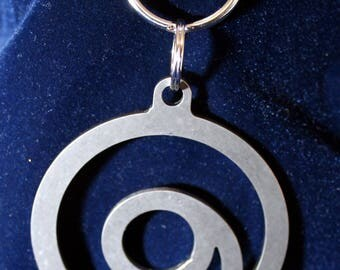 Medium Gratitude Symbol - Stainless Steel charm Key Chain