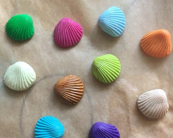 6 x handmande shell charms or flatbacks