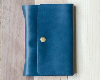 Nerissa - Turquoise Leather Pocket Journal