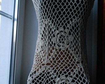 crochet tunic crochet top beach wear free shipping