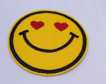 Emoji Love Iron on Sew/Patch Embroidery