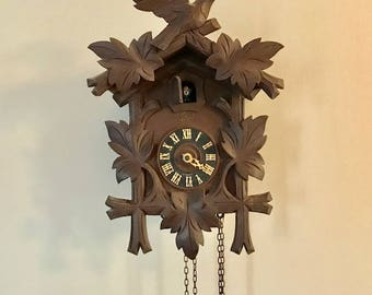 Authentic Vintage Large German 8 Day Cuckoo Clock by Schatz