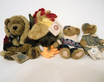 Collection Of 4 Boyd's Bears With Tags. Vintage 1980's And 1990's.