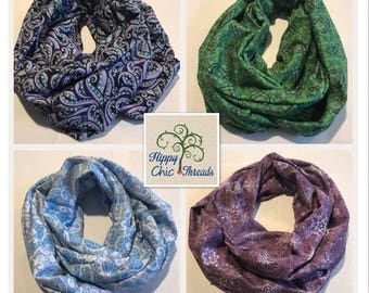 Adult Infinity Scarf - multiple prints to choose from - ready to ship